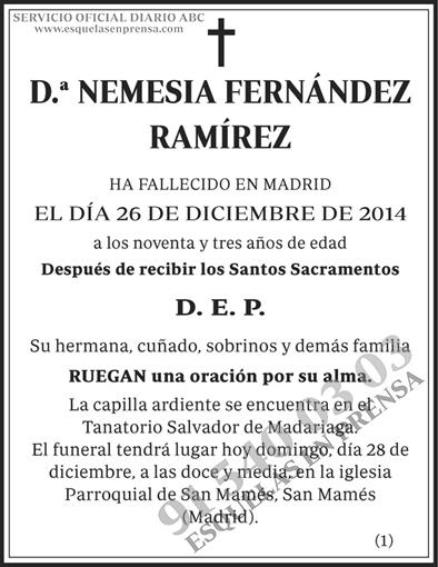 Nemesia Fernández Ramírez